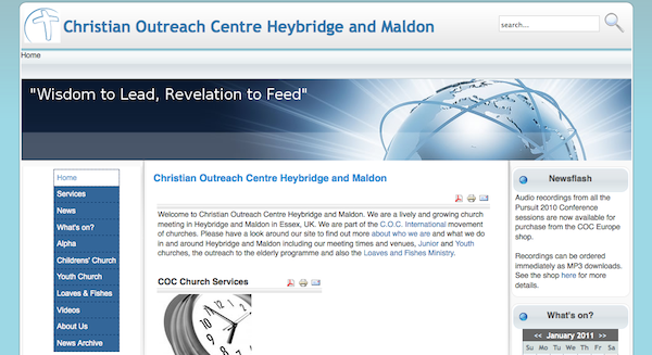 COC Heybridge Website screenshot