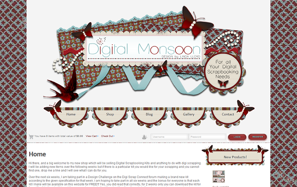 Screen print of the Digital Monsoon website