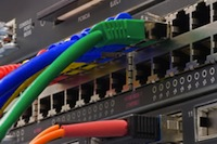 Picture of a network switch
