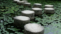 A picture of some stepping stones