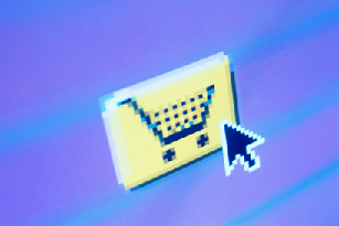 Picture of an online shopping basket logo