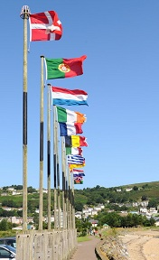 International flags marking International Education Week