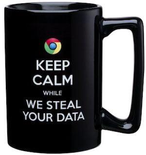 A Scroogled mug from Microsoft