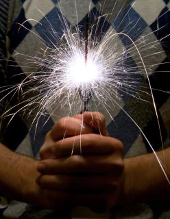 A picture of a sparkler symbolising the lost creative copywriting spark