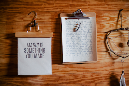 Who needs copywriting? Great text is not magic as this picture shows, it is the result of hard work