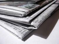 A picture of a small newspaper
