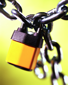 Picture of a secure padlock