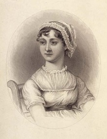 A picture of Jane Austen. Technically she was an author not a copywriter