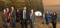 A picture of the cast of Broadchurch