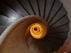 Picture of the The Spiral Staircase of Doom, reserved for copywriters of fake product reviews