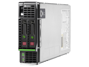 Picture of HP BL-460c server with accompanying Innocent-style technical copy