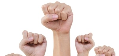 The fists of some angry copywriters