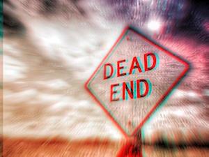 Picture of a 'Dead End' road sign