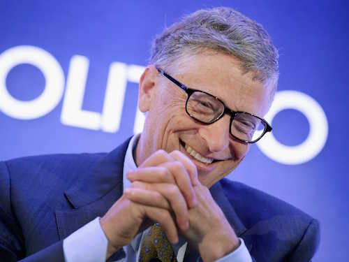 Bill Gates laughing at clickbait