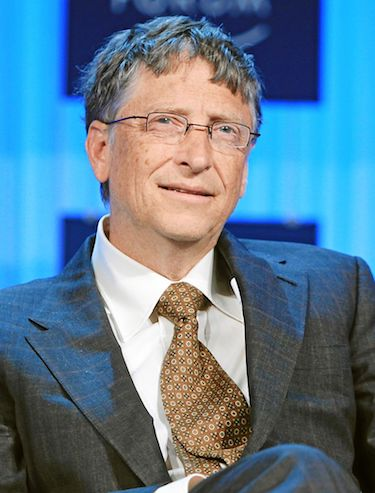 A picture of Bill Gates looking a little bit puzzled