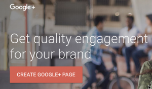Screenshot of the Google+ for brands homepage
