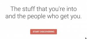 Screenshot of the Google+ homepage