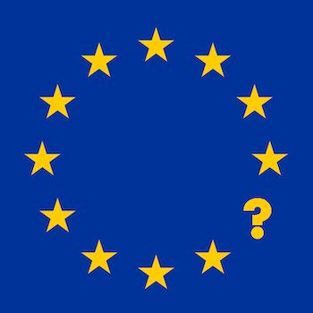 EU flag with a missing star representing the UK overstates the effect Brexit will have on international copywriting services